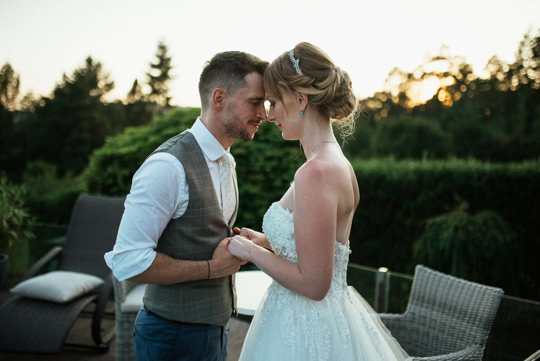 Svatební focenní západ slunce Brněnská přehrada brno