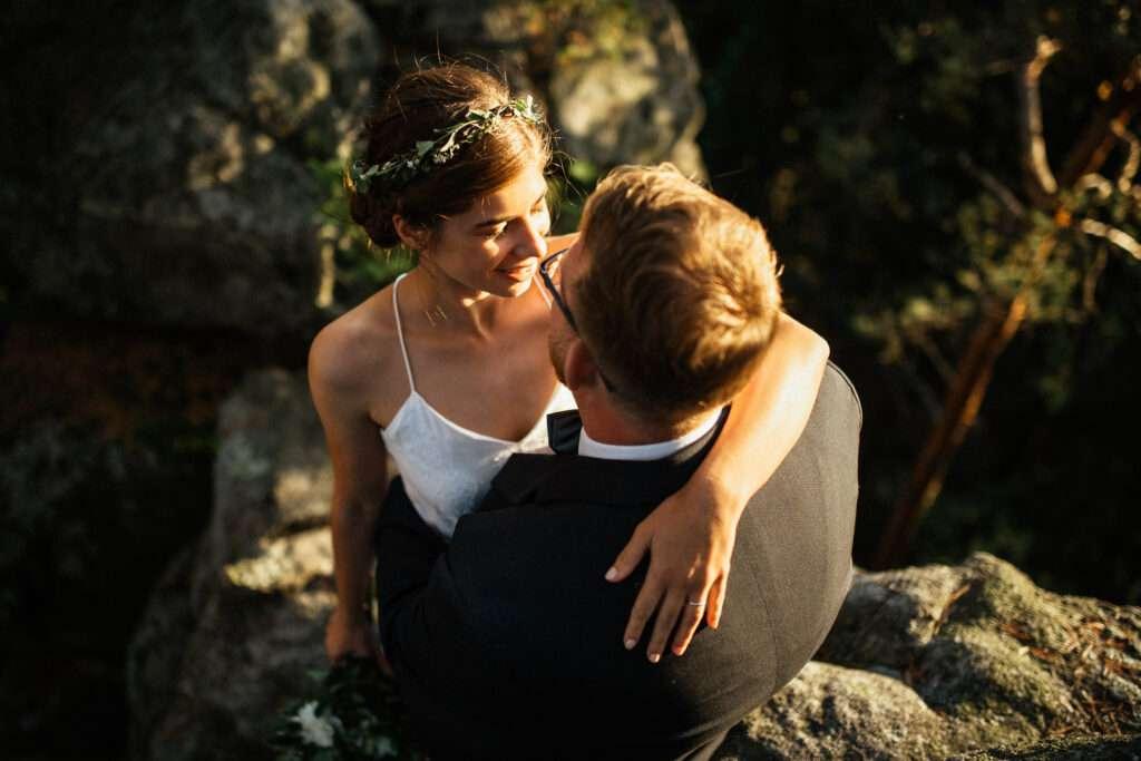 Svatební focení v lese, Žďárské vrchy Vysočina