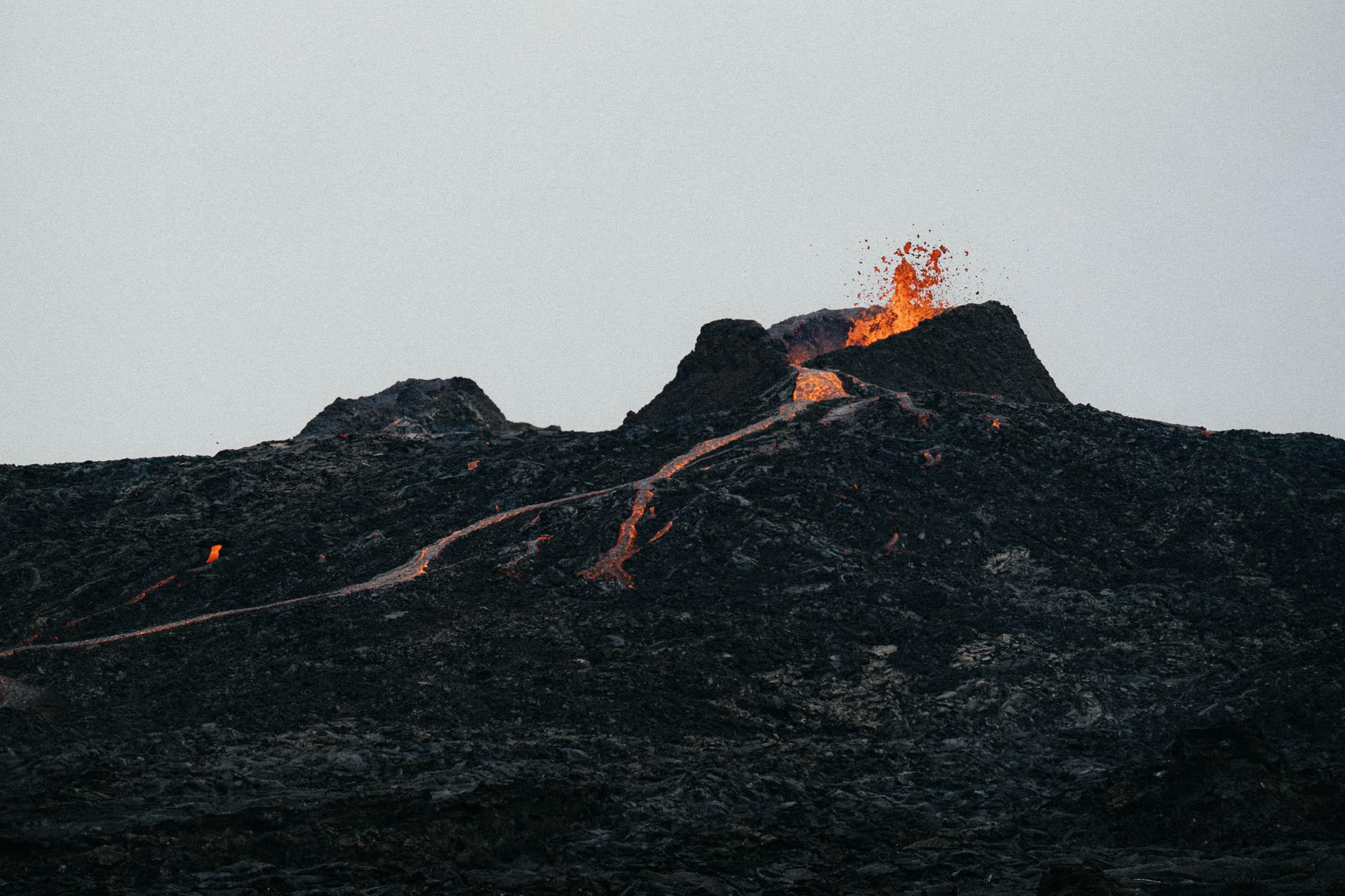 Island Fagradalsfjall sopka erupce